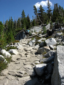 Yep - here comes the climb.  Starting on the 2100 ft climb to Donohue Pass