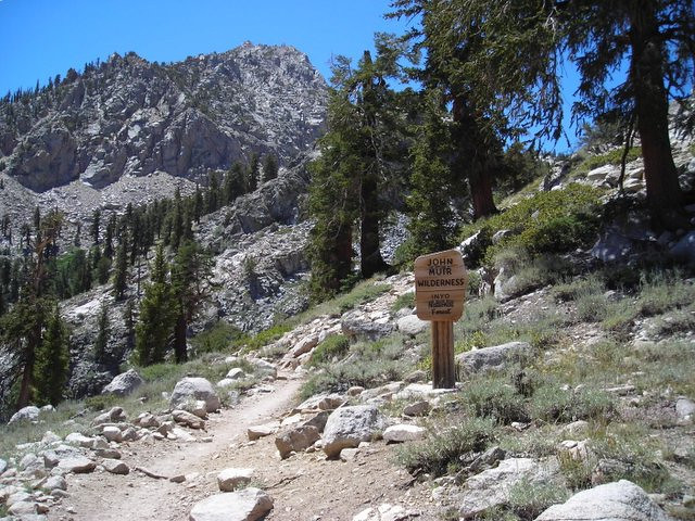 Entering the John Muir Wilderness