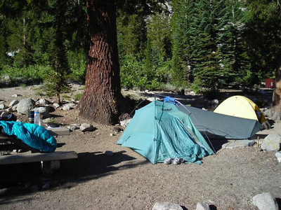 We rolled in late the night before and our reserved site was waiting for us. I really liked this spot - mostly backpackers getting off of or getting on the trail. No room for RVs and trailers!