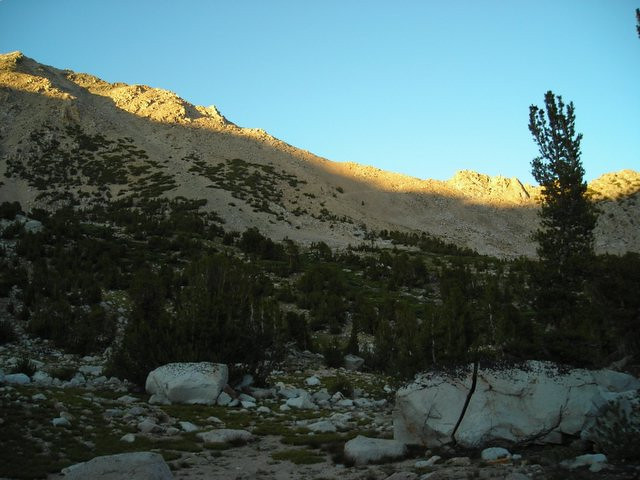 And back over Kearsarge Pass.
