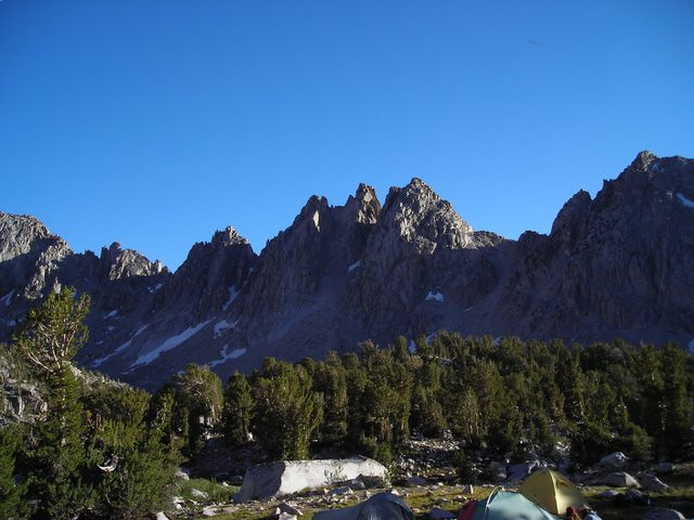 Campsite and Pinnacles.