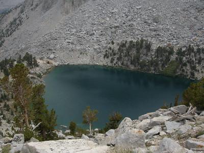 Heart Lake, far below us.