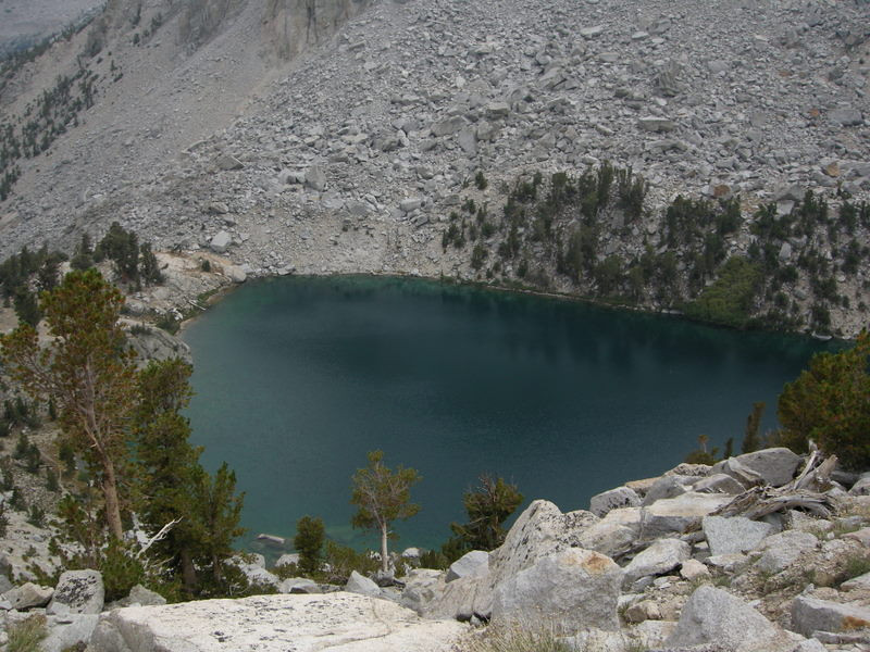 Heart Lake, far below us.