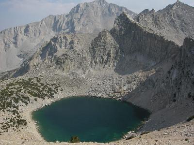 Big Pothole Lake and University Peak in the background