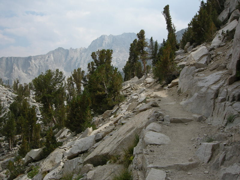 Climbing to Kearsarge Pass