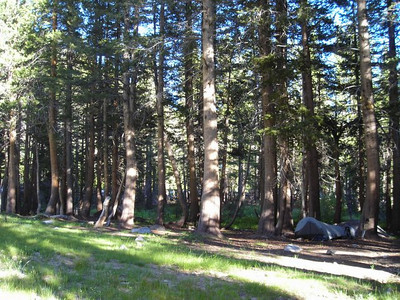 And we found a decent campsite at the far end of Big Pete Meadow.