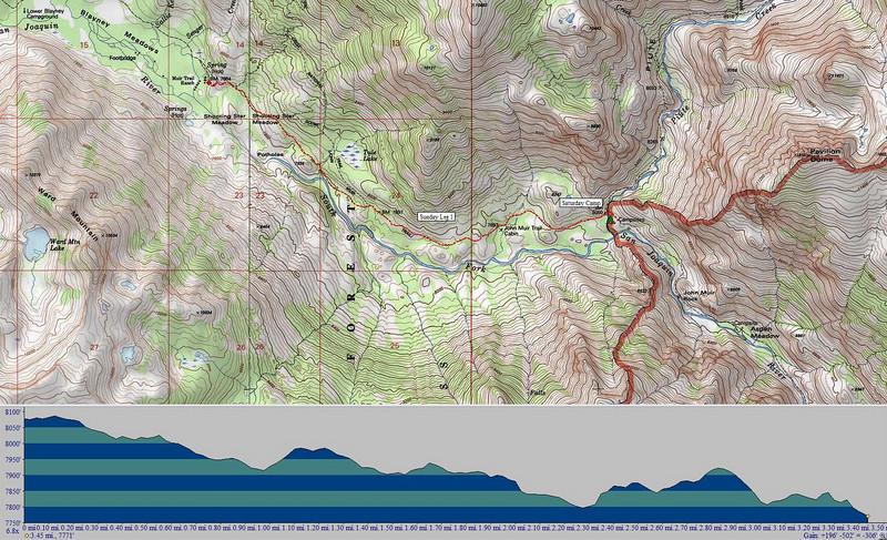 Leg 1 - Camp at Piute Creek to Muir Trail Ranch