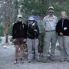 Group photo at Piute Creek<br /> <br /> Mary, Michael, and Kerry head south along the JMT today while I head up Piute Canyon