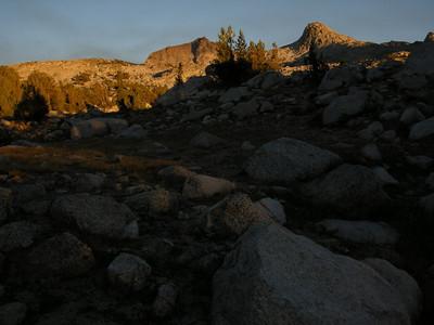 Sunset glow on Muriel Peak