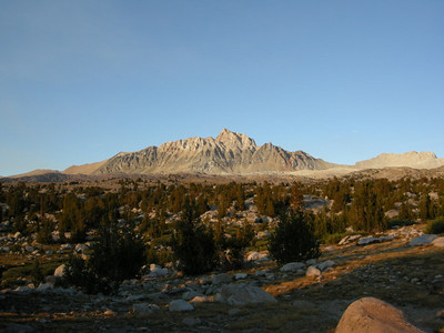 Early evening on Mt Humpreys from my campsite