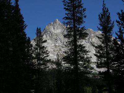 Impressive granite peaks line Piute Canyon