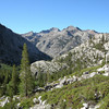 Looking back down Piute Canyon<br /> <br /> Our campsite was down where the three canyons/valleys come together