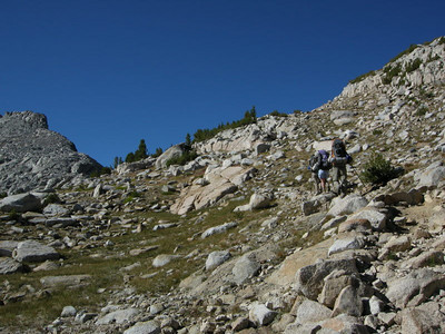 Only a few switchbacks to the pass - this is an easy one.