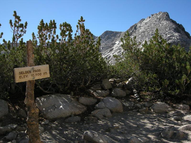 Selden Pass and Mt Senger
