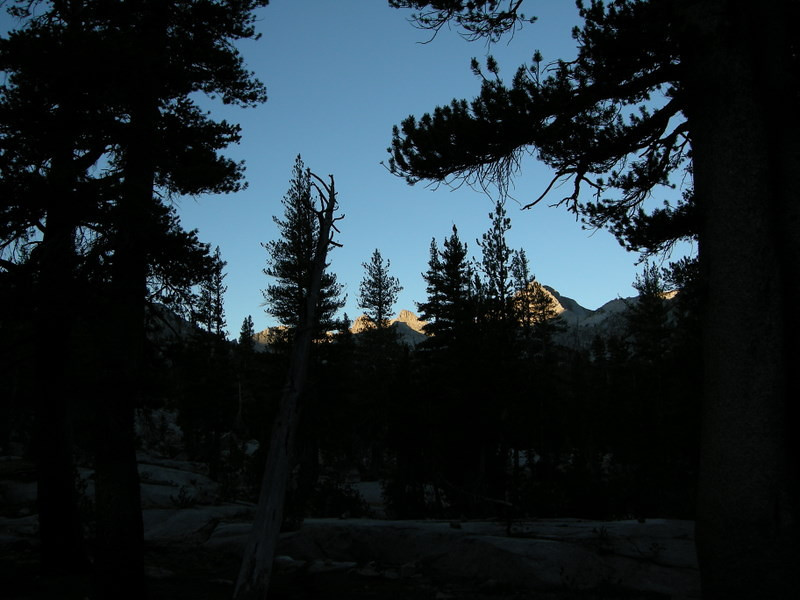 A hint of the views to come from camp in the morning