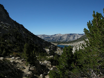 View over the pass to Heart Lake