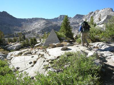 An interesting triangular rock