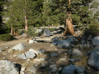 Camp at Piute Creek