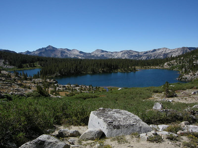 The twin Sallie keys lakes  Looks like a nice spot for a break!