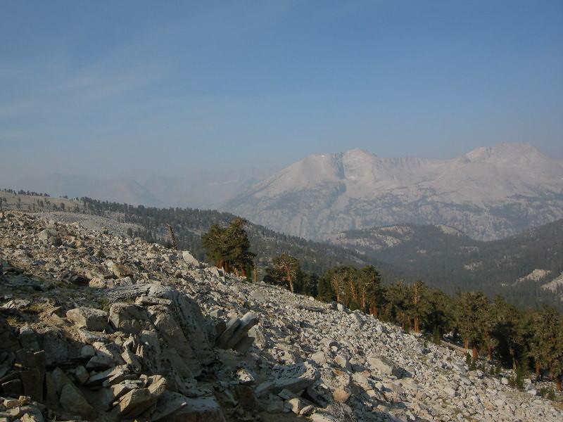 Kern Ridge through the smoke