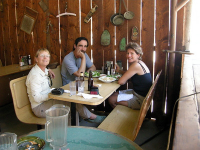 Mary, Michael, and Anna Marie at lunch time.  With delicous fresh-out-of-the-oven chocolate chip cookies on the table