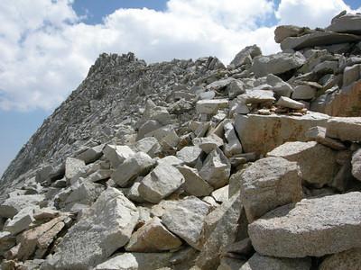 The ridge at the Pass