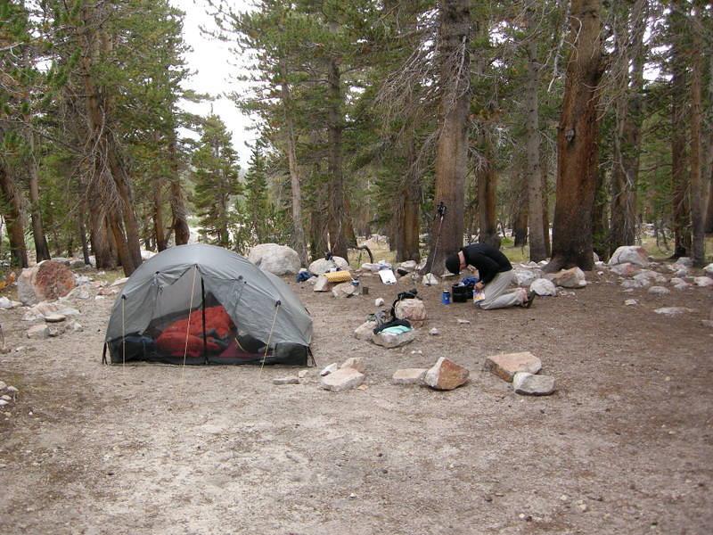 Camp at Tyndall Creek