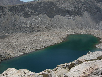 A gorgeous unnamed lake below Forester Pass