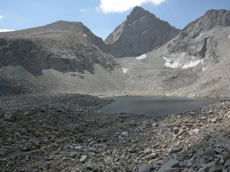 The view - Junction Peak and the unnamed lake