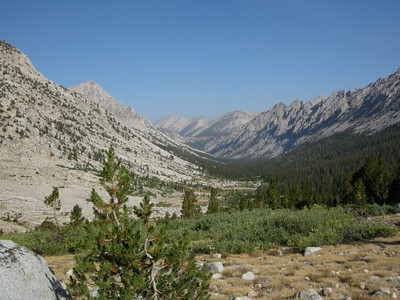 A look back down Bubbs creek/Vidette Meadow - where we came from
