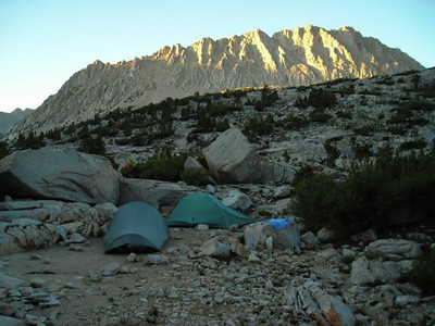 Our campsite on Lake Marjorie