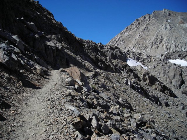 Finally, one of the last switchbacks as we complete our 3700 ft climb.
