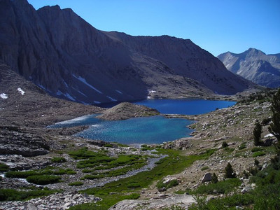 Lake Marjorie - our camp was on the far end.