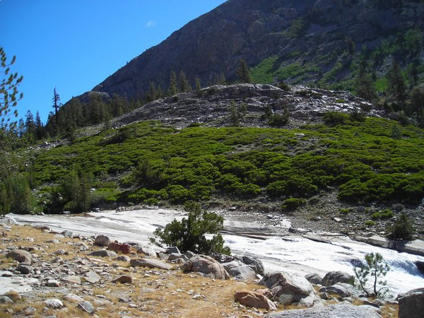 Following Woods Creek<br /> <br /> the first several miles of the day are along Woods Creek which is a constant cascade