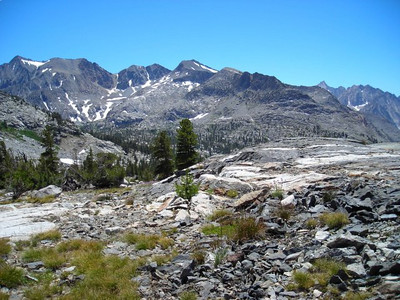 Looking back toward Sawmill Pass and Woods creek.