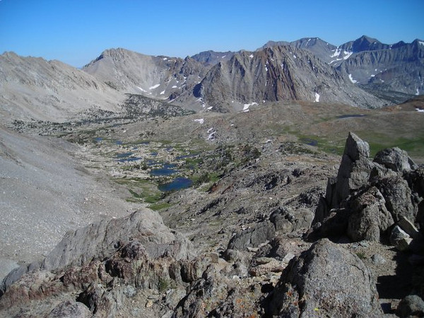 View from Pinchot Pass toward Mt Cedric Wright