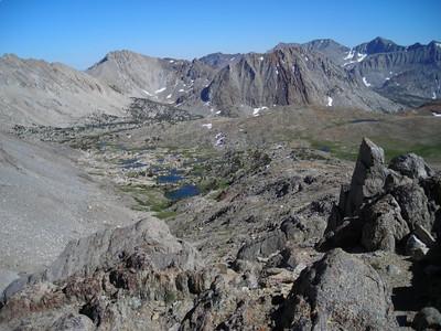 View from Pinchot Pass toward Mt Cedric Wright