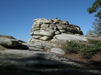 Rock formation along the ridge
