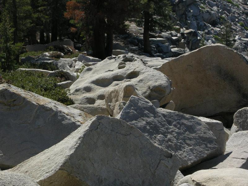 Interesting rock just below the summit