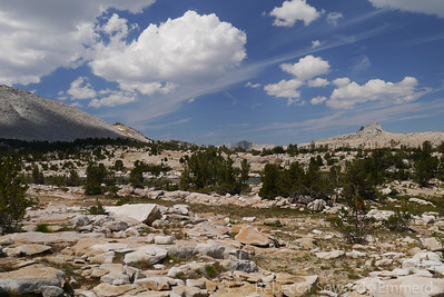 There are a couple of pretty lakes on the bench. Matthes crest makes a nice backdrop.
