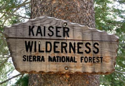 Entering Kaiser Wilderness