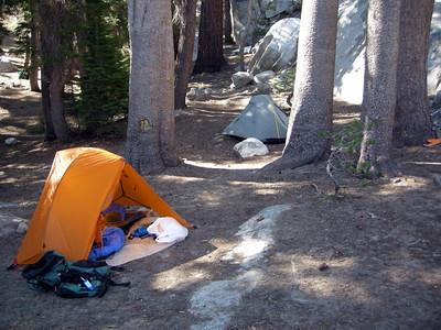 Camp at Upper Twin Lake
