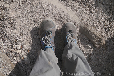 Gear shoutout: I wore Patagonia approach shoes/scramblers for 90% of the trip and they were great (especially for the rock hopping/peaks). But they have no padding and my feet were pretty sore from the previous day's 18 miles. Enter my camp shoes, the Columbia Power Drains. These are lightweight water and trail shoes that felt super, super great at the end of the week. I should have been hiking in them the whole time.  Gear Boohoo: the pants I am wearing in this shot got tossed in the trash at the trailhead. They are my alltime favorite hiking pants (by the north face, not sure of the model) and after ~5 years of constant use, they finally met their demise in the form of a big tear on the butt when coming down Mt Tyndall. Good thing I still have another pair!