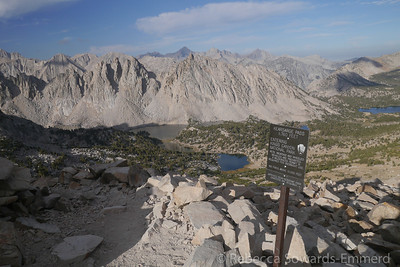 Kearsarge Lakes from Kearsarge Pass