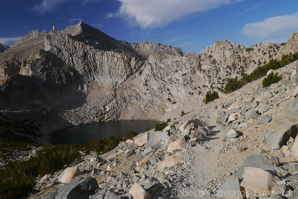 Pothole lakes are in the shade. I have the trail to myself for the first 2.5 of the 5 miles back to the trailhead. So peaceful and wonderful.