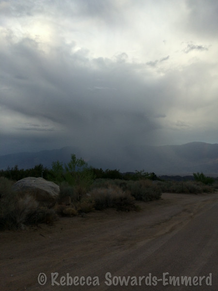 Crazy little rain storm clearing out