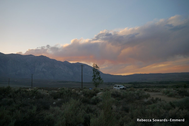 After the hike I headed south to Bishop. I was treated to a lovely sunset from Horton Creek.