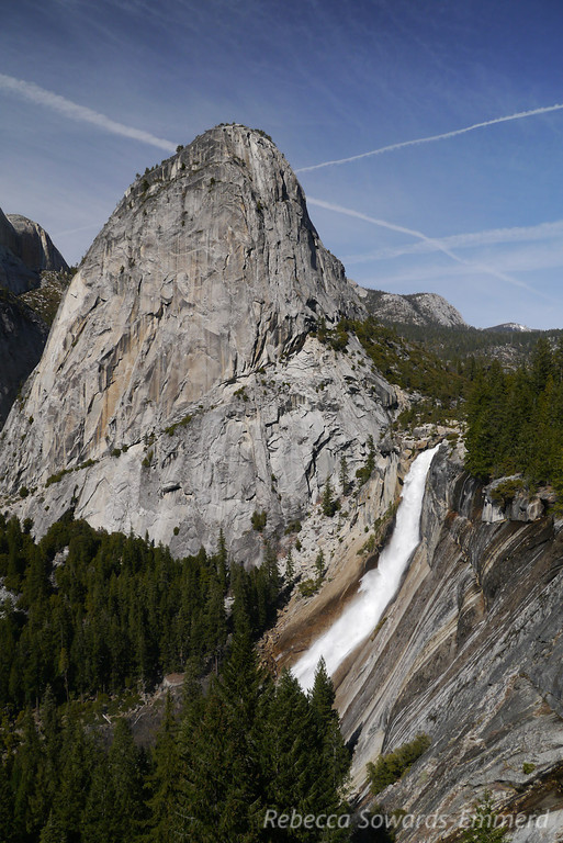Liberty Cap and Nevada Falls from the JMT.