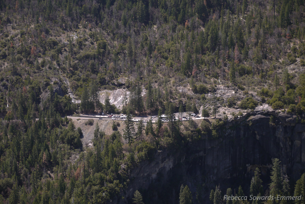 Tour buses at Tunnel View