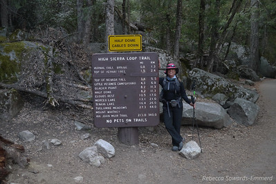 Sooz at the start of the trail. Only 211 miles to Mt Whitney! I want to do the JMT again. :(